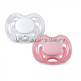 Philips Avent Free-Flow Pink Baby Soother BPA Free 0-6 months  2PCS