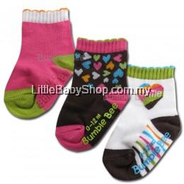 Bumble Bee 3 Pair Pack Smile Socks
