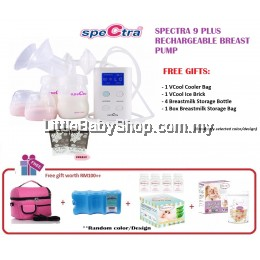 Spectra 9 Plus Rechargeable Breast Pump (Double) Package