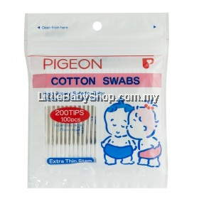 Pigeon  Cotton Swabs Extra Thin Stem 100's