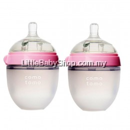 [GENUINE] Comotomo Natural Feel Baby Bottle 150ML Pink (Twin)