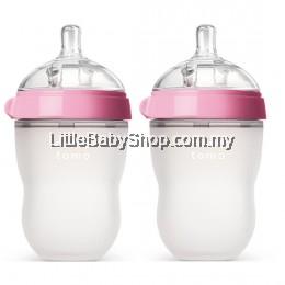 [GENUINE] Comotomo Natural Feel Baby Bottle 250ML Pink (Twin)
