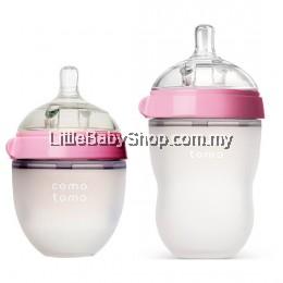 [GENUINE] Comotomo Natural Feel Baby Bottle Pink (Mixed) - 250ml+150ml