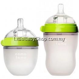 [GENUINE] Comotomo Natural Feel Baby Bottle Green (Mixed) - 250ml+150ml