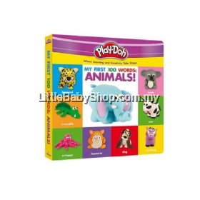 Play-Doh Deluxe Board Book My First 100 Words-Animals