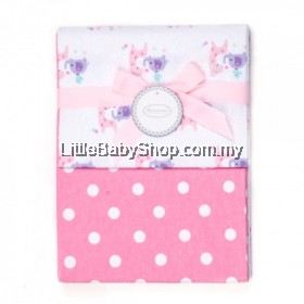Autumnz-Flannel Receiving Blanket (2pcs/pack) *I Love You*