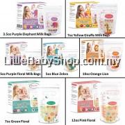 AUTUMNZ Breast Milk Storage Bags Pre-sterilised Double ZipLock Bags - 28Bags (3.5oz / 5oz / 7oz / 10oz / 12oz)