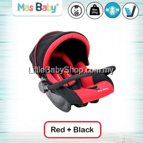 MAS BABY Newborn/Infant 3-in-1 Carseat/Carrier/Rocker - Red (max 20kg)
