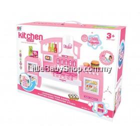 HAPPY BABY Kitchen Play Set Pink (No.6821)
