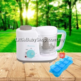 AUTUMNZ 2-in-1 Baby Food Processor - Steam & Blend (XJ-12406) with Free Gift
