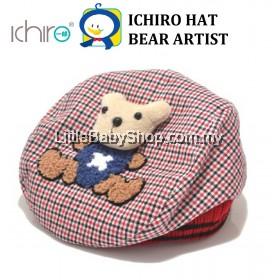 ICHIRO Hat Bear Artist - Red