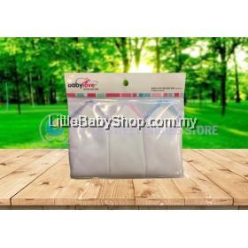 BABYLOVE Cotton Gauze Washcloths 3pcs (35cmX35cm) - Assorted Color