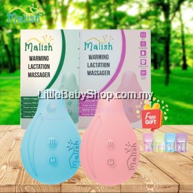 MALISH Rechargeable Warming Lactation Massager (Unblock Clogged Duct) - Blue / Pink (with Free Gift) 1 Year Warranty