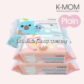 K-MOM: Organic Basic Wet Tissue Natural Pureness ( 100 sheets x 3 Packs )
