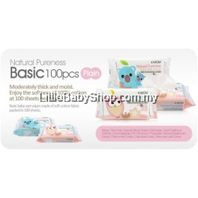 K-MOM Natural Pureness Basic Wet Wipes ( 100 sheets x 3 Packs ) (Exp Date: Mar2023)