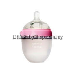 [GENUINE] Comotomo Natural Feel Baby Bottle 150ML Pink