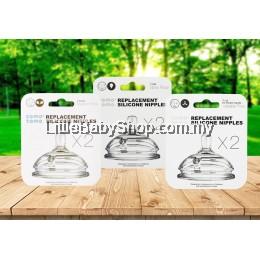 COMOTOMO Replacement Silicone Nipples (Teats) 2pcs