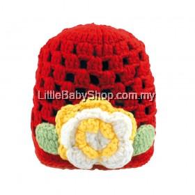 ICHIRO Head Gear Crochet Flower Series (Red)