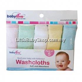 BabyLove  Cotton Washcloth (Pack of 5)