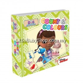 Disney Junior Padded Board Book Count and Colours (Doc McStuffins)