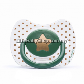 Suavinex Haute Couture Premium Physiological Silicone Soother - Little Star Emerald +4M